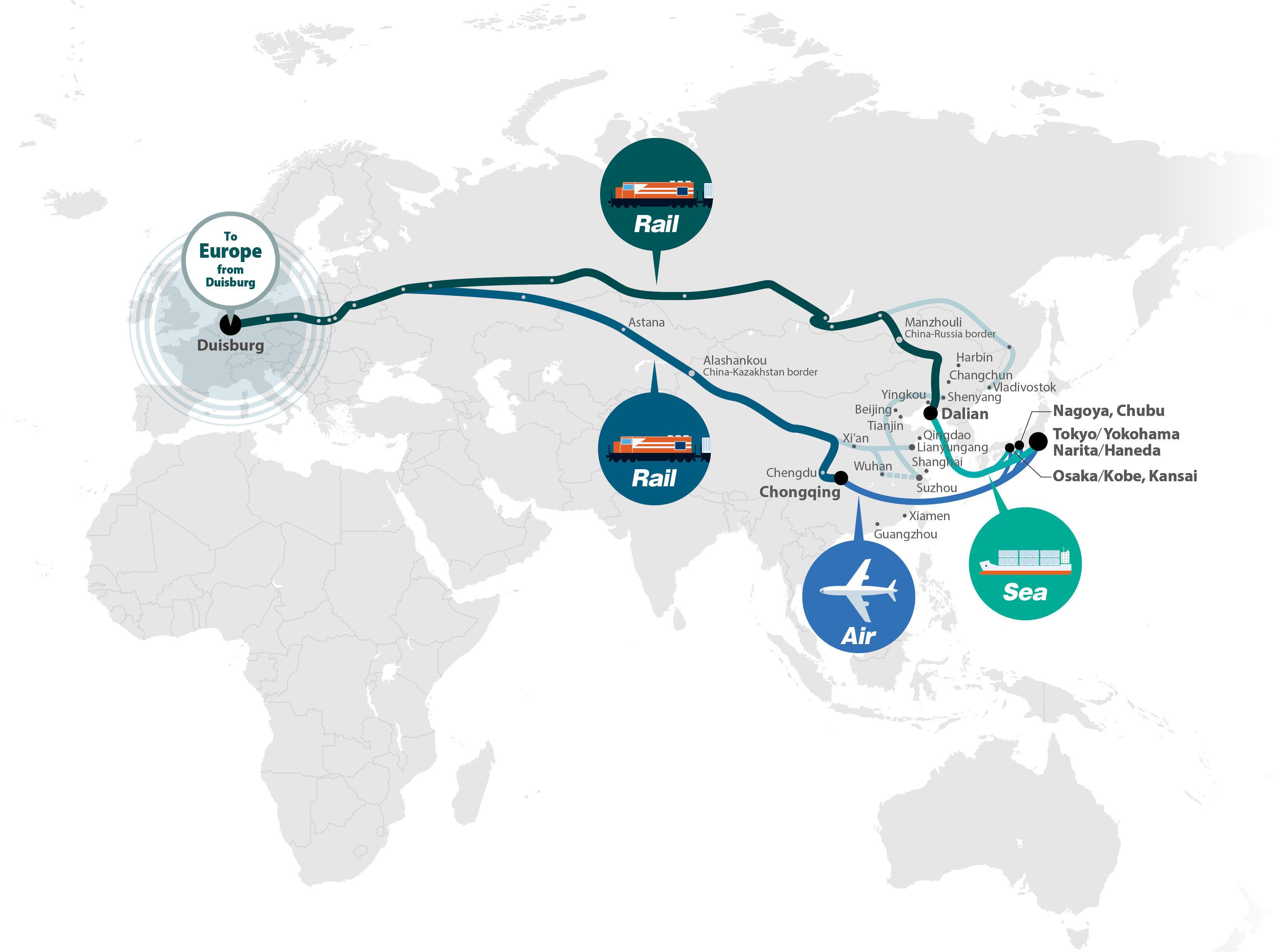 Nippon Express to Begin Intermodal Through Transport